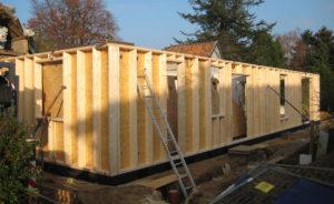 Holzbau Stocks – Holztafelbau Montage