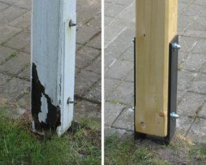 Holzbau Stocks – Reparatur – Pfosten Erneuerung